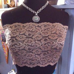 Other - Neutral lace bandeau bra top lingerie bralette